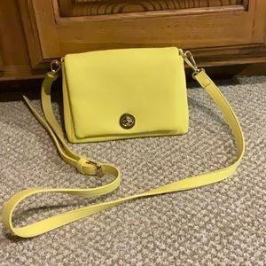 Yellow crossbody bag from Charming Charlie